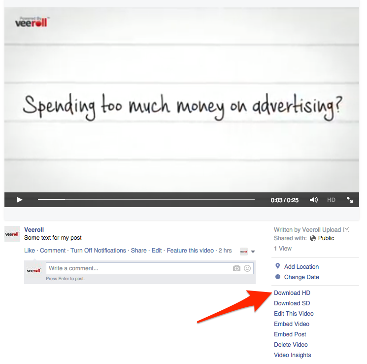 how to see videos you commented on facebook